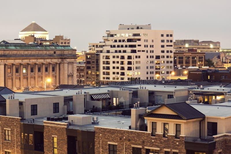 Architektur von Indianapolis stockfotos