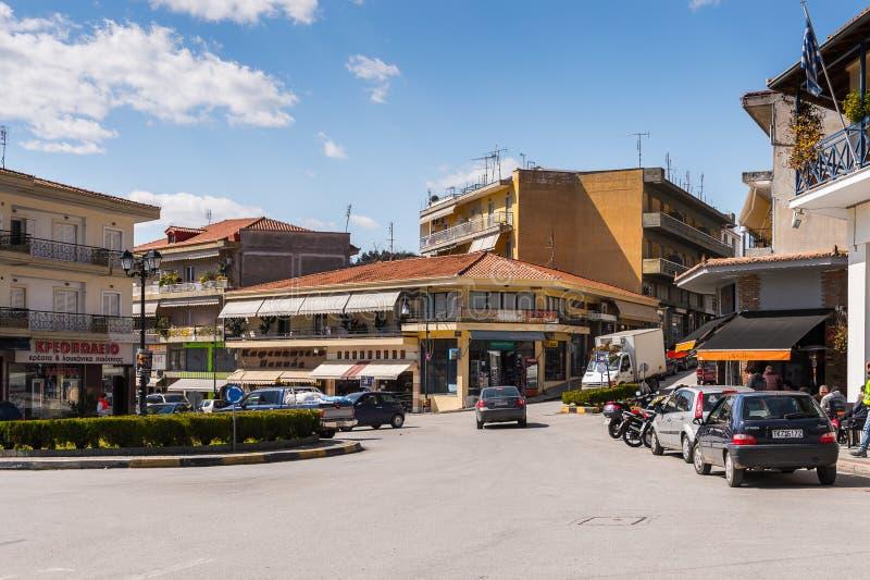 Architektur von Kalambaka, Griechenland lizenzfreies stockfoto