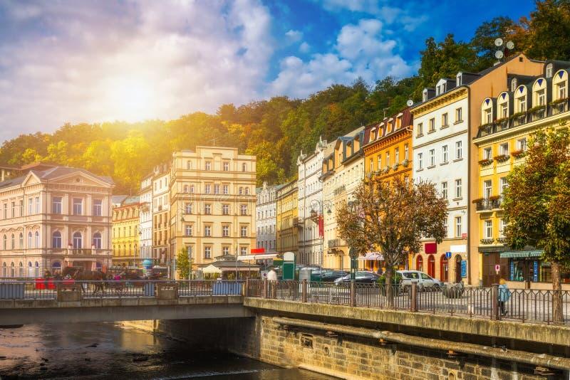 Architektur von Karlovy Vary Karlsbad, Tschechische Republik Es ist t stockfotos