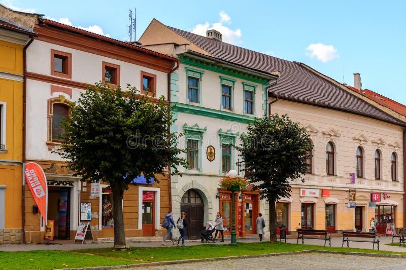 Architektur von Kezmarok, Slowakei, stockbild