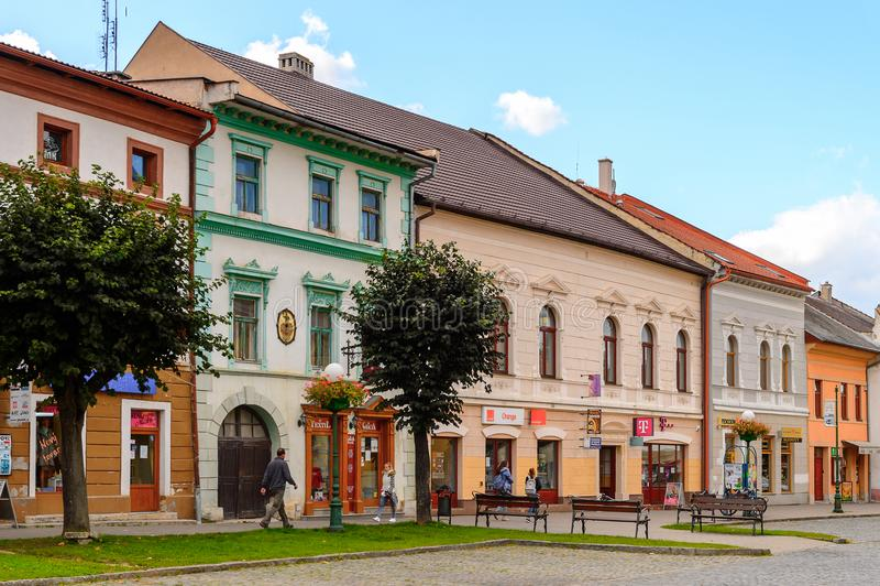 Architektur von Kezmarok, Slowakei, lizenzfreie stockfotografie