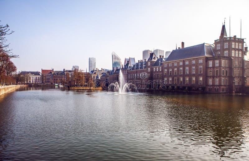 Architektur von modernem Den Haag u. von x28; Den Haag u. x29; Stadtzentrum netherlands stockfotografie