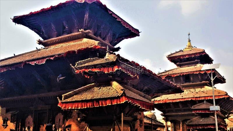 Architektur von Nepal von Durbar-Quadrat lizenzfreie stockfotografie