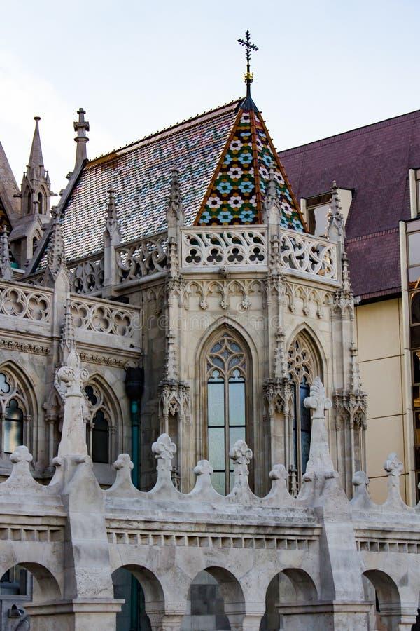 Architektur von s-templom ¡ tyà ¡ Kirche Mà St. Matthias stockbild