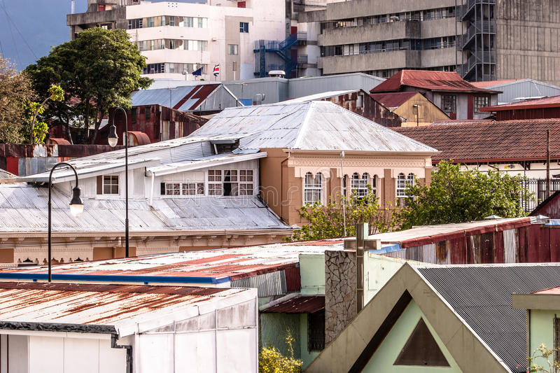 Architektur von San Jose, Costa Rica stockbild