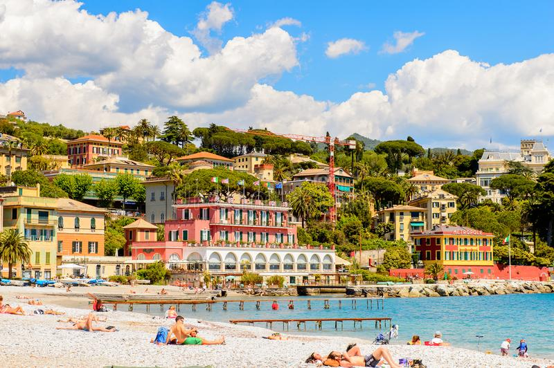 Architektur von Santa Margherita Ligure, Italien stockfoto