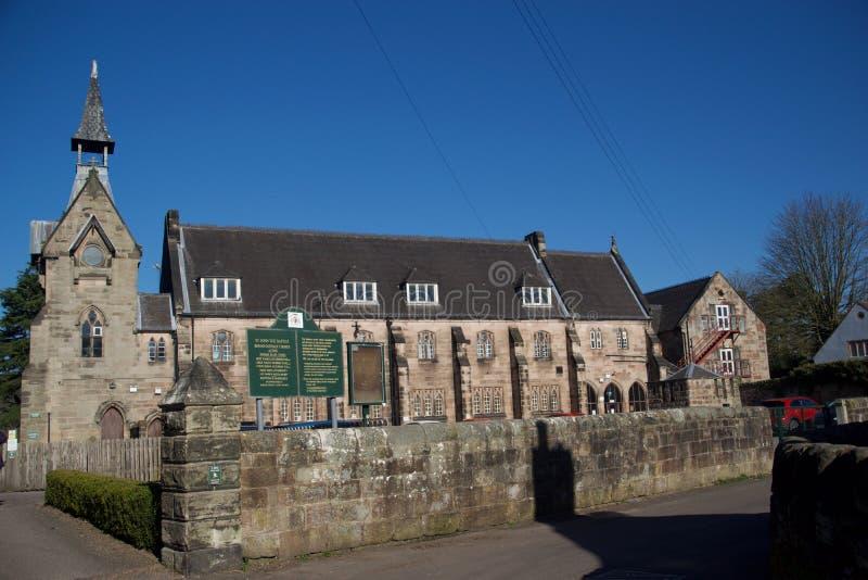 Architektur von Schule St. John The Baptist stockbild