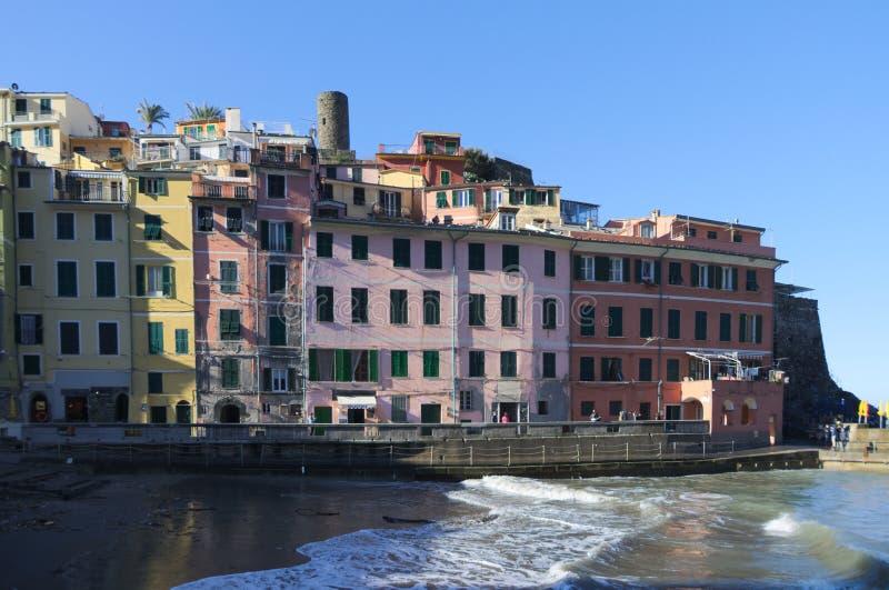 Architektur von Vernazza stockfotos
