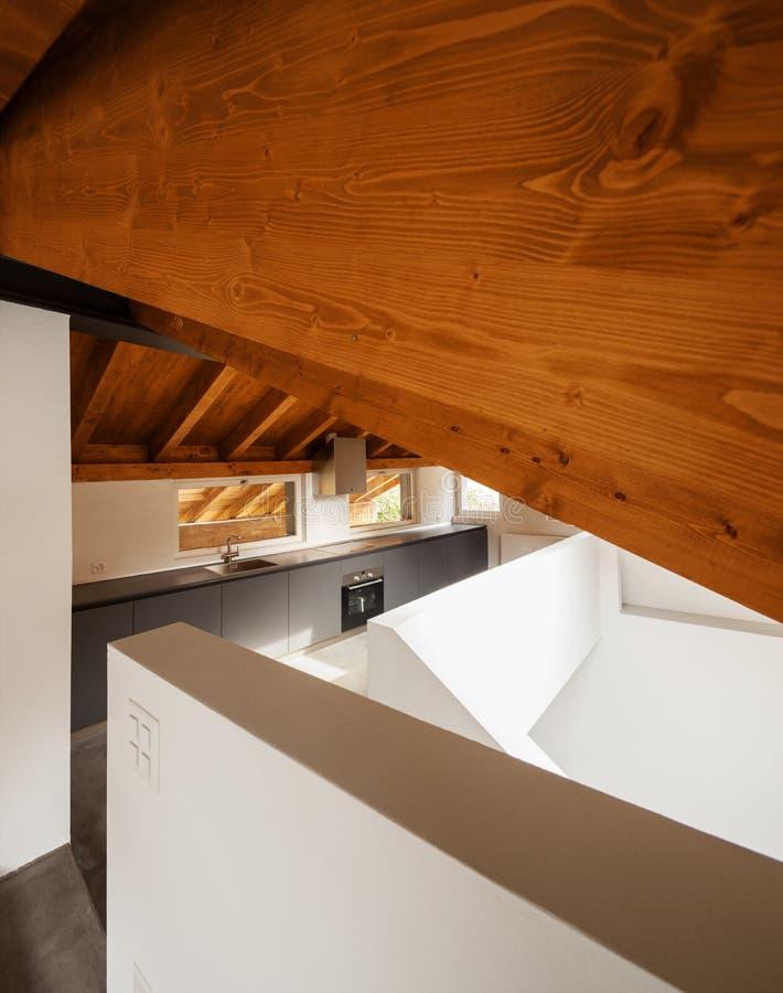 Architektur wnętrza, nowożytny dom zdjęcie stock