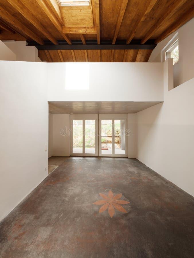 Architektur wnętrza, nowożytny dom obrazy royalty free