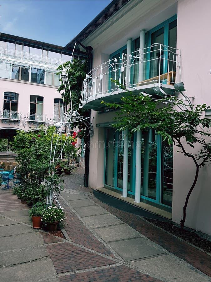 Architektur, Yard eines Hauses, Hackescher Hof, Berlin lizenzfreie stockfotos