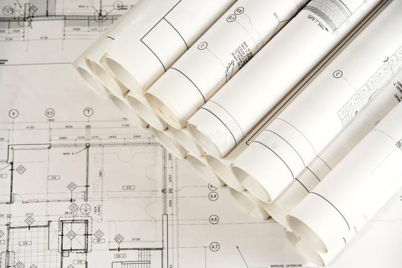 Architektur-Zeichnungen 2 lizenzfreie stockbilder