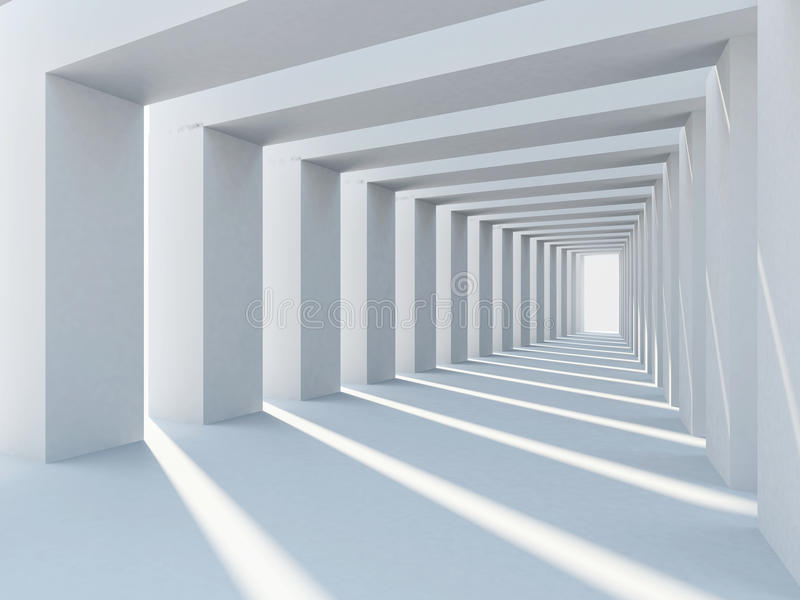 architektura abstrakcjonistyczny biel royalty ilustracja