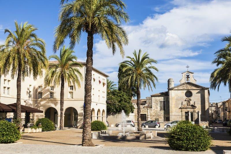 Architektura Aigues-Mortes zdjęcia stock