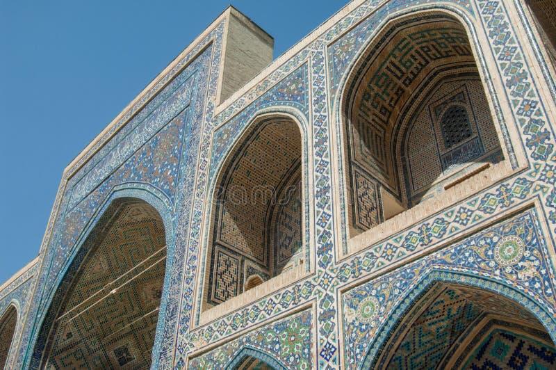 Architektura antyczny Samarkand zdjęcia stock