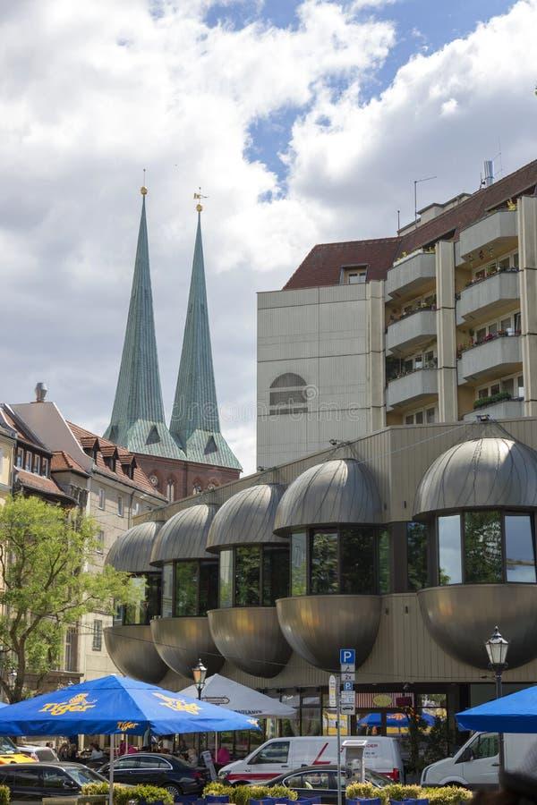 Architektura budynki w środkowej części Berlin obraz stock