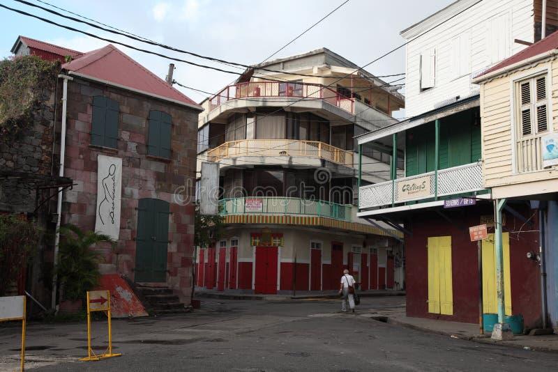 Architektura budynki w Dominica, wyspy karaibskie zdjęcie royalty free