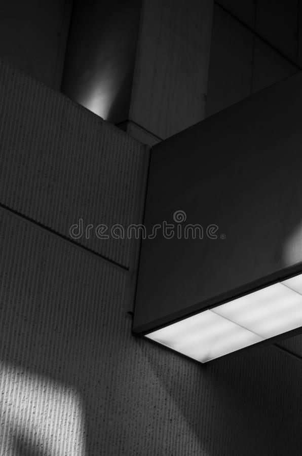 Architektura element B&W fotografia stock