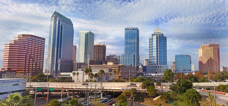 architektura Florida nowożytny Tampa usa obraz stock