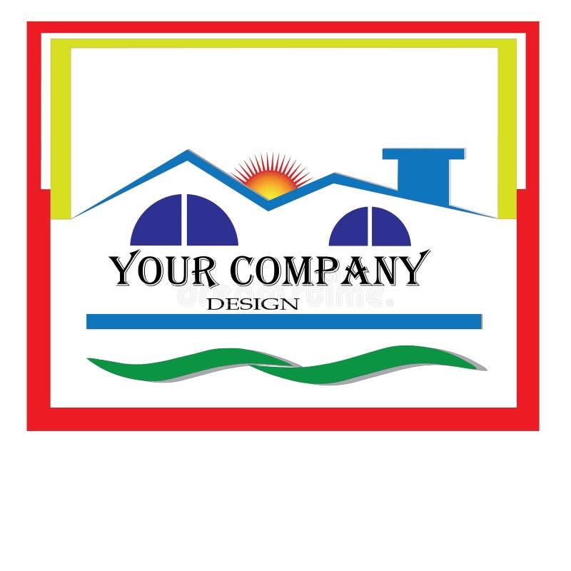 Architektura i luxshuary domowy logo ilustracja wektor