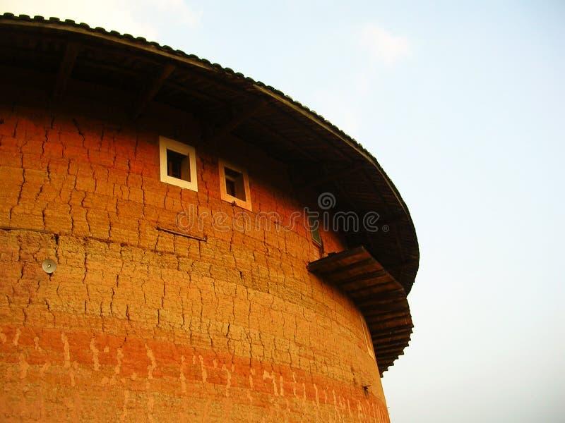 architektura jest największym ludzkim tulou Fujian. obrazy stock