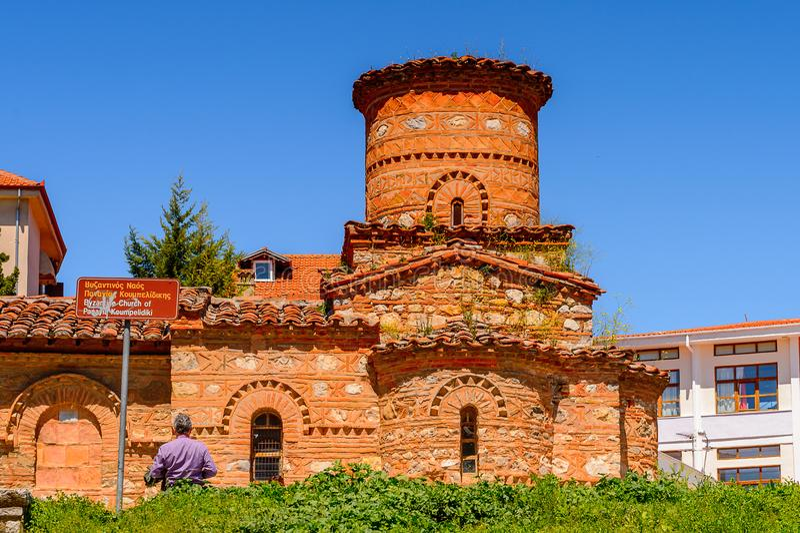 Architektura Kastoria, Zachodni Macedonia, Grecja fotografia stock