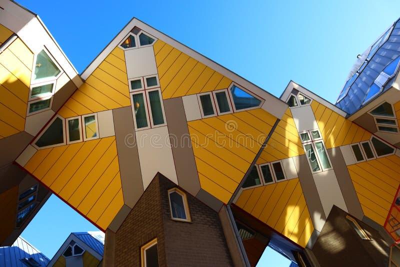 Architektura kubiczni domy, Rotterdam holandie zdjęcia royalty free