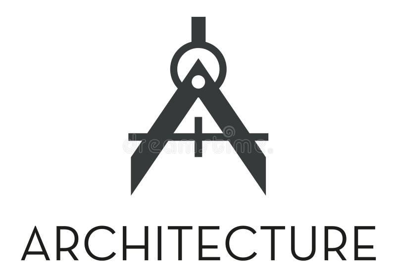 Architektura logo royalty ilustracja
