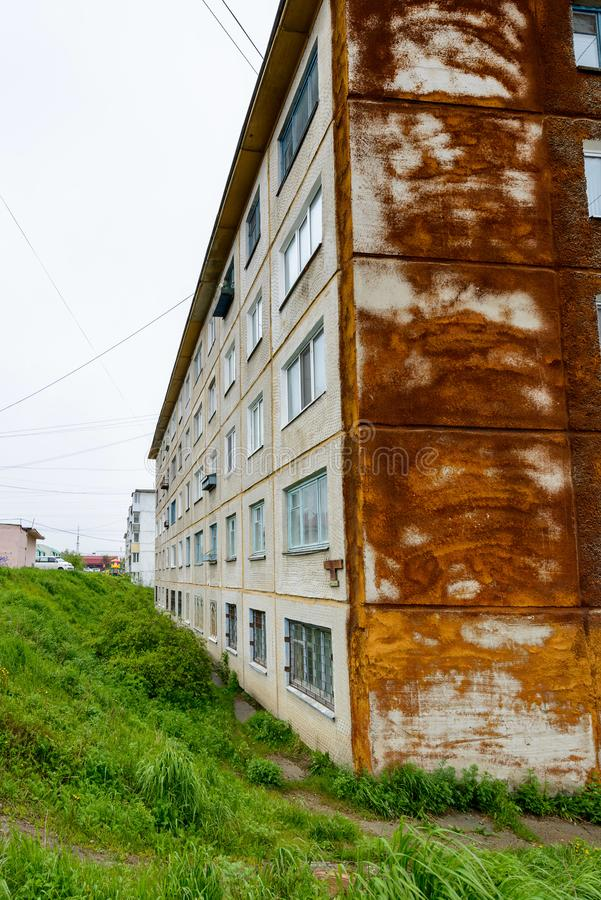 Architektura Magada, federacja rosyjska obrazy stock