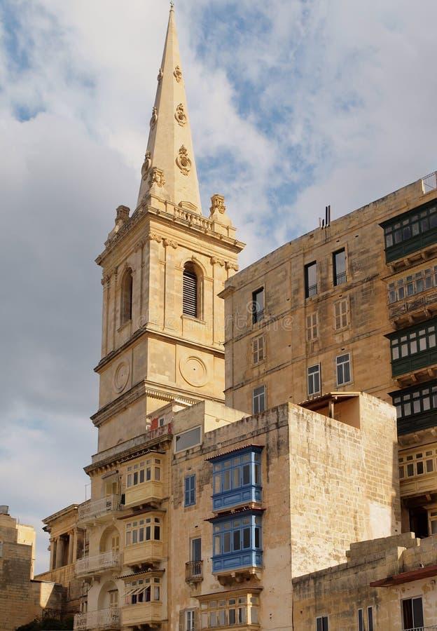 architektura Malta Valletta obrazy stock