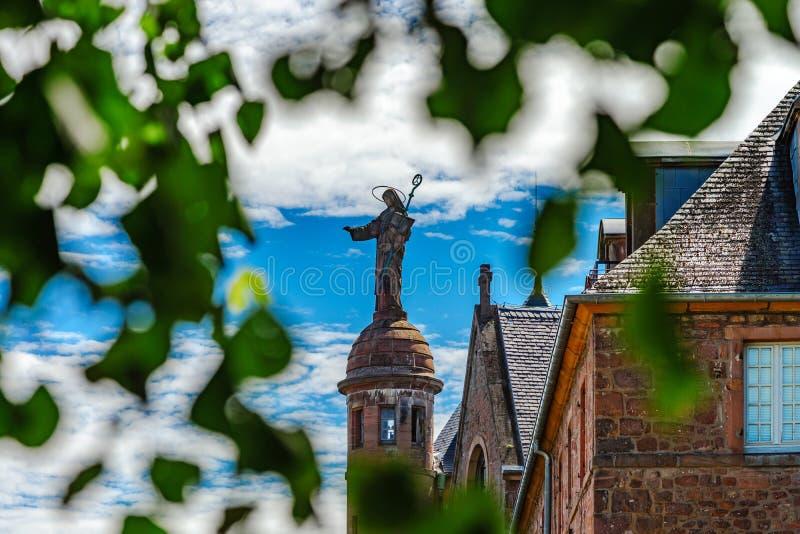 Architektura mont sainte-odile opactwo w Alsace, Francja zdjęcia royalty free