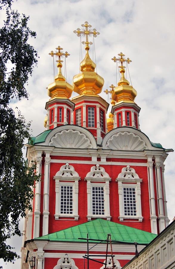 Architektura Novodevichy klasztor w Moskwa obrazy royalty free