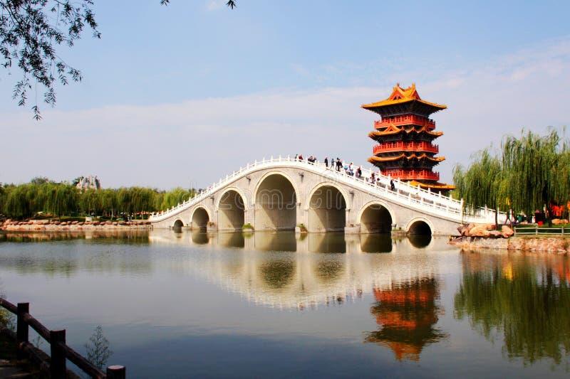 architektura ogród chiński klasyczny zdjęcia stock