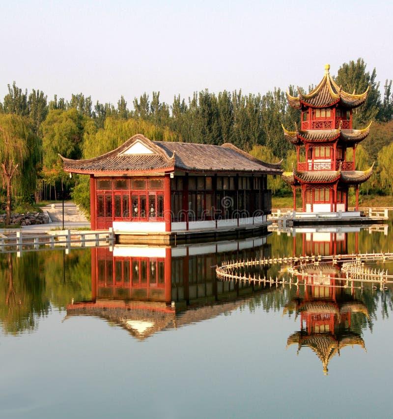architektura ogród chiński klasyczny fotografia royalty free