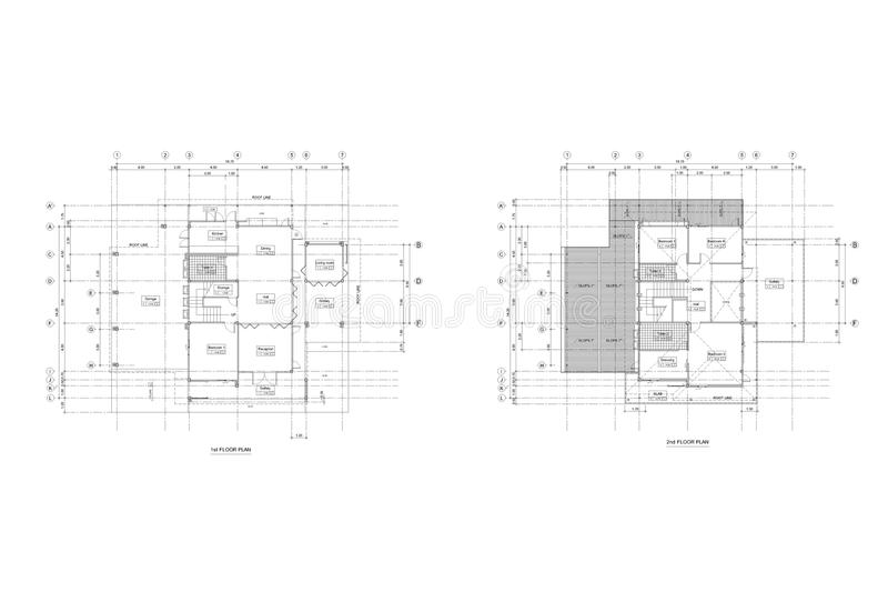 Architektura planu rysunek royalty ilustracja