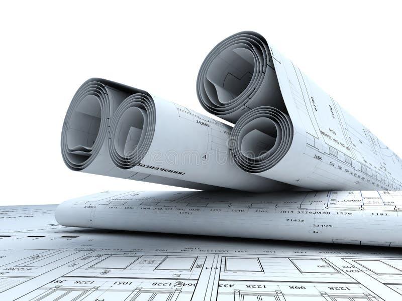 architektura plany ilustracja wektor