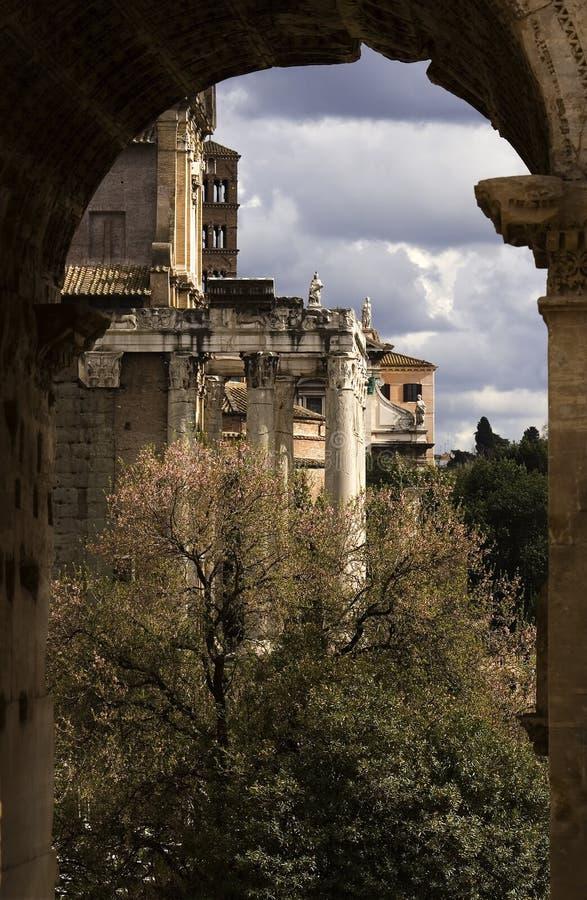 architektura pradawnych Rzymu zdjęcie royalty free