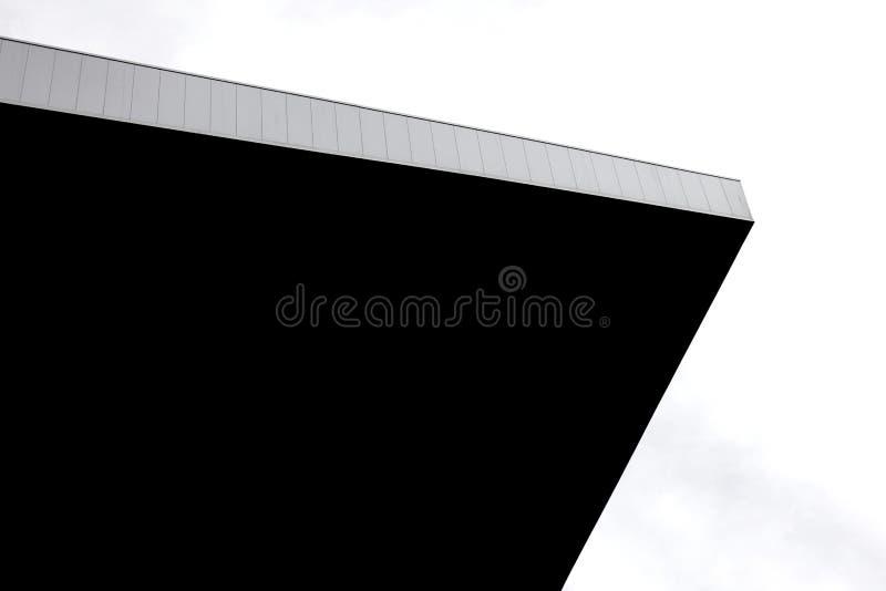 Architektura projekta szczegółu czarny i biały fotografia artystyczna zdjęcia stock