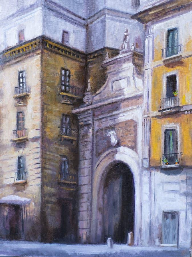 Architektura Salerno ilustracja wektor