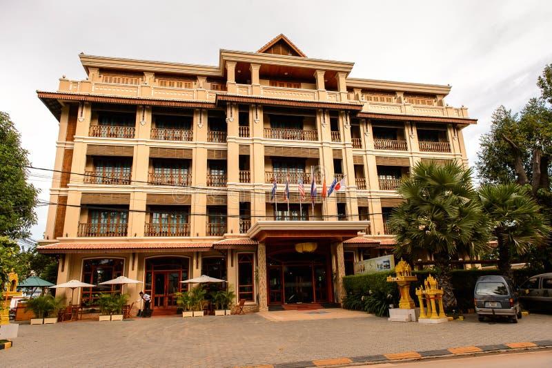Architektura Siem Przeprowadza żniwa, Kambodża zdjęcia royalty free