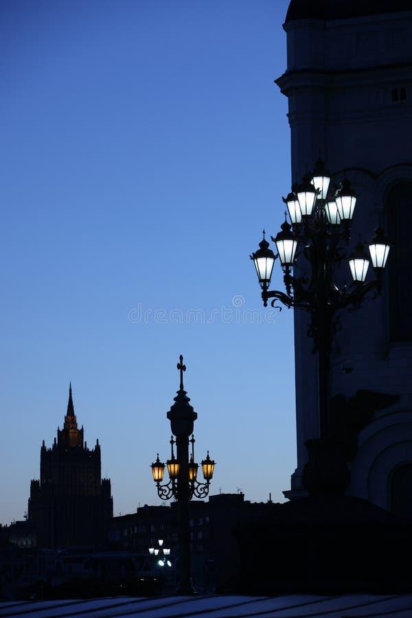 Architektura stary miasteczko przy nocą zdjęcia royalty free