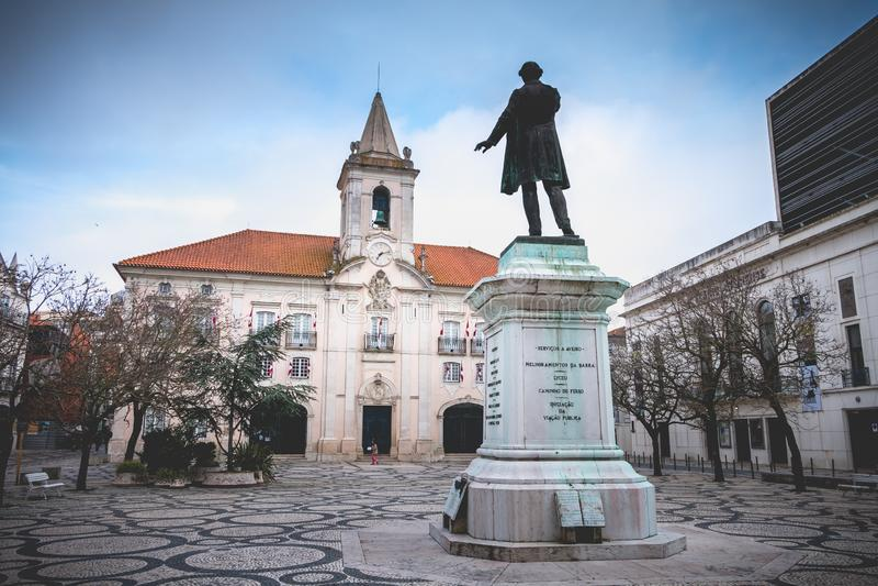 Architektura szczegół urząd miasta Aveiro, Portugal zdjęcie royalty free