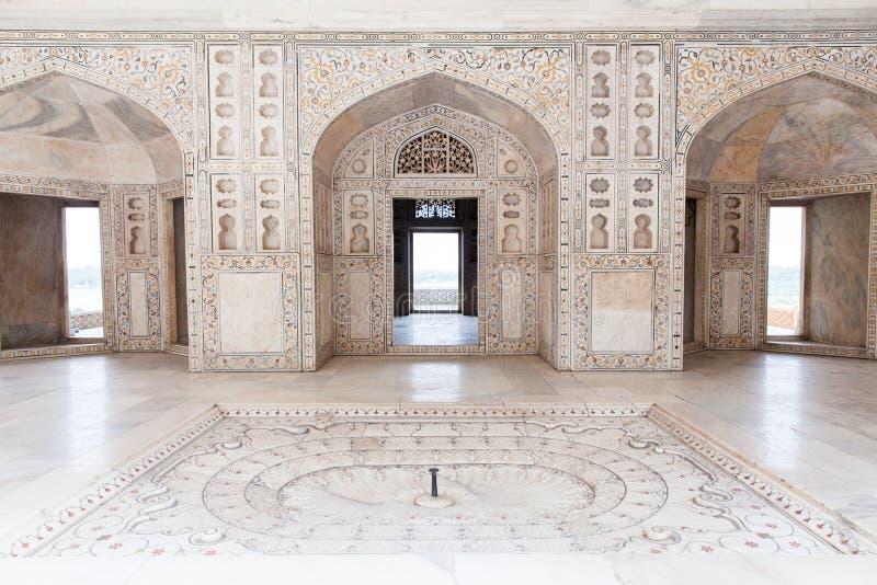 Architektura szczegóły Agra Czerwony fort, India obrazy stock