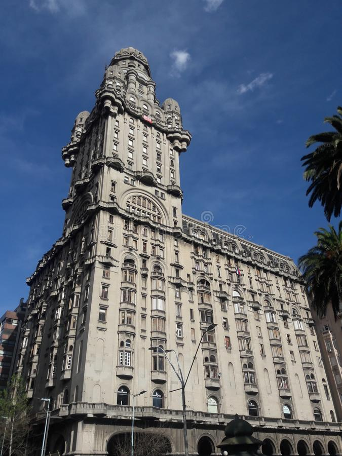 Architektura Urugwaju w Montevideo Square obraz stock