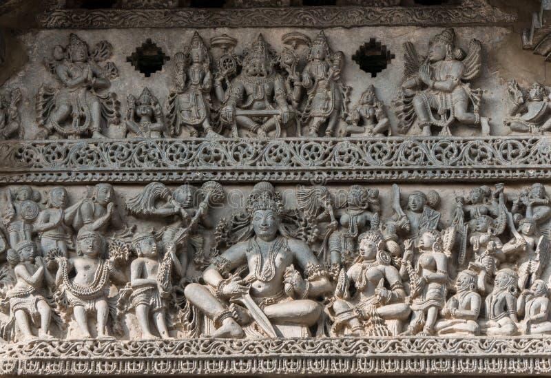 Architektura w Chennakeshava świątyni w Belur, Karnataka, India zdjęcie royalty free