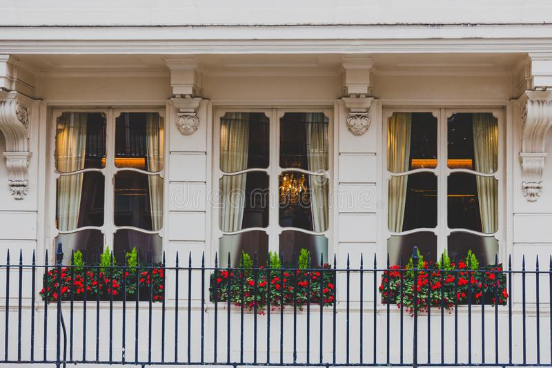 Architektura w Mayfair w Londyńskim centrum miasta obraz stock