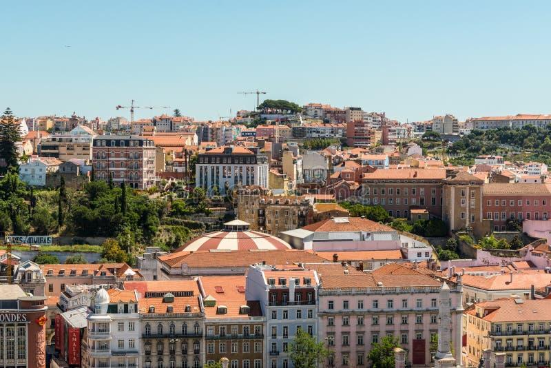 Architektura w Starym miasteczku Lisbon, Portugalia zdjęcia royalty free
