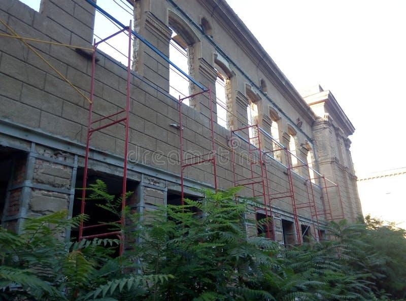 Architektura zbutwiała ruina zdjęcie royalty free