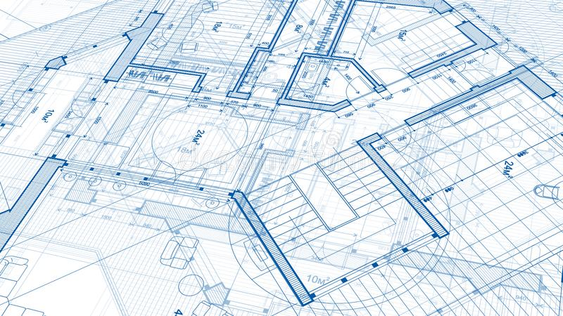 Architekturdesign: Planplan - Illustration eines Planes stockfotografie