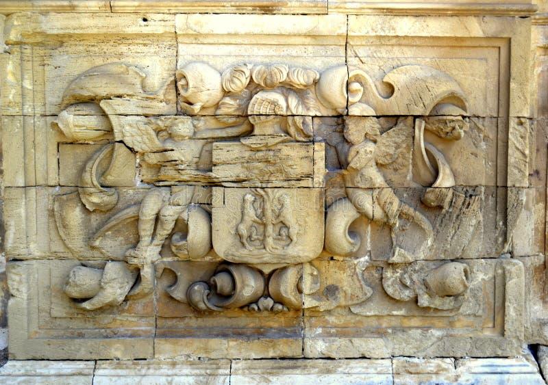 Architekturdetail über das Charterhouse von Jerez stockbild